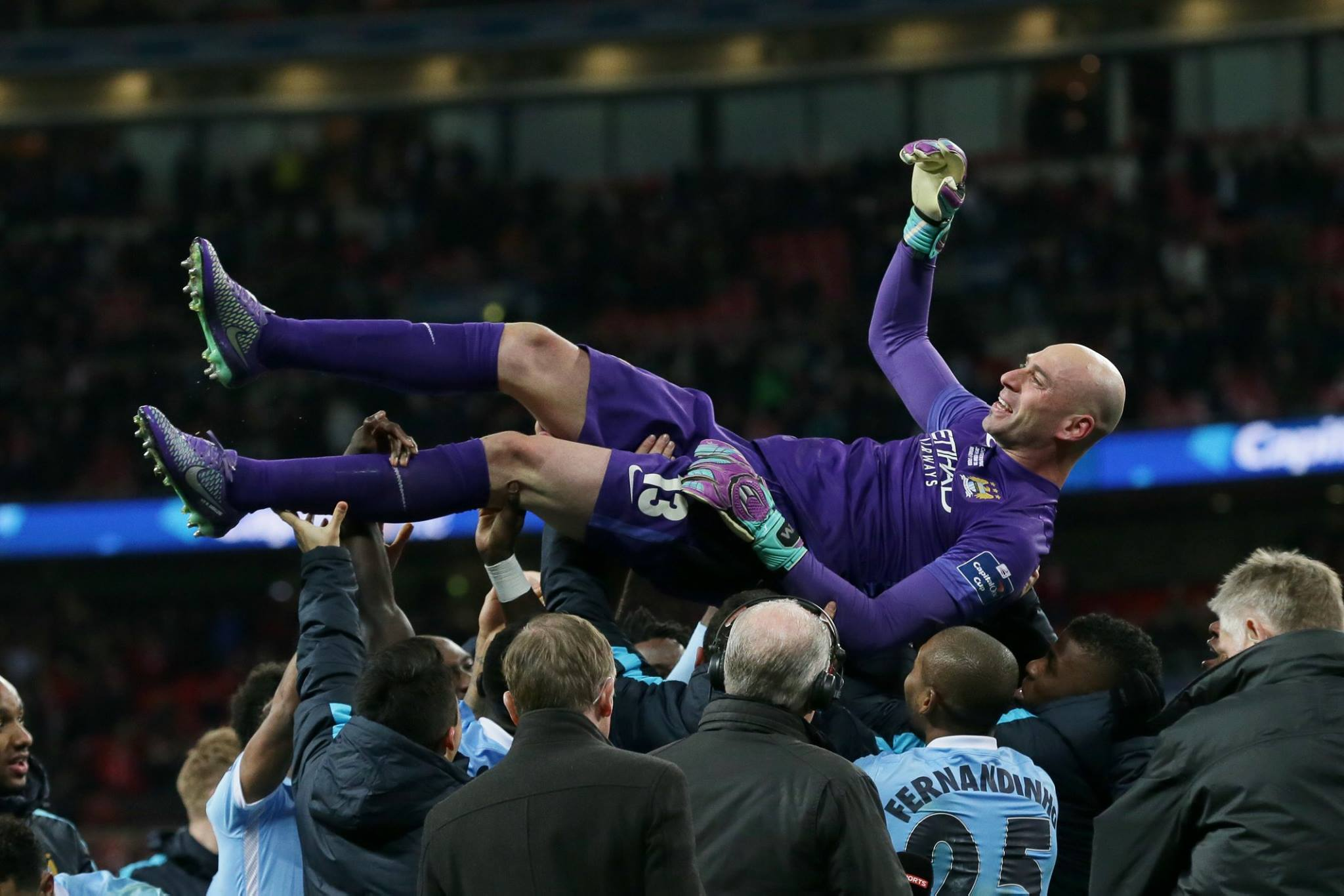 Hero Caballero - Willy proved all the doubters wrong with a trio of stunning Wembley penalty saves. Courtesy@MCFC