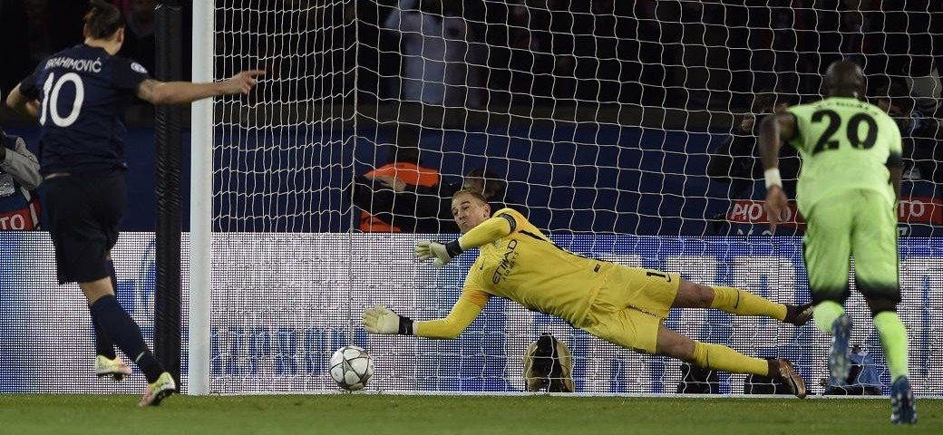 Hart-stopper - Joe's memorable penalty save from Zlatan in Paris kept City on the road to Milan.