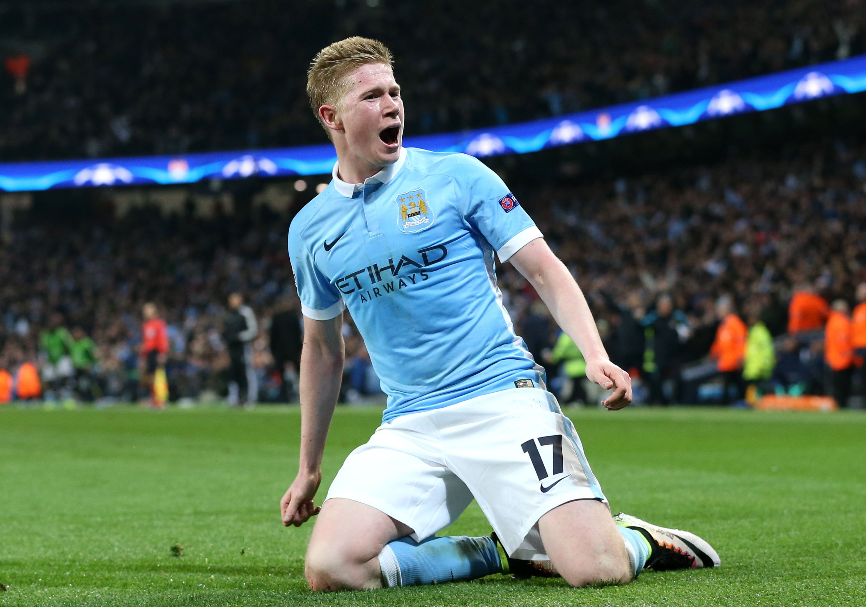 King Kevin knee-slide - KDB has just put City into the last four of the Champions League.