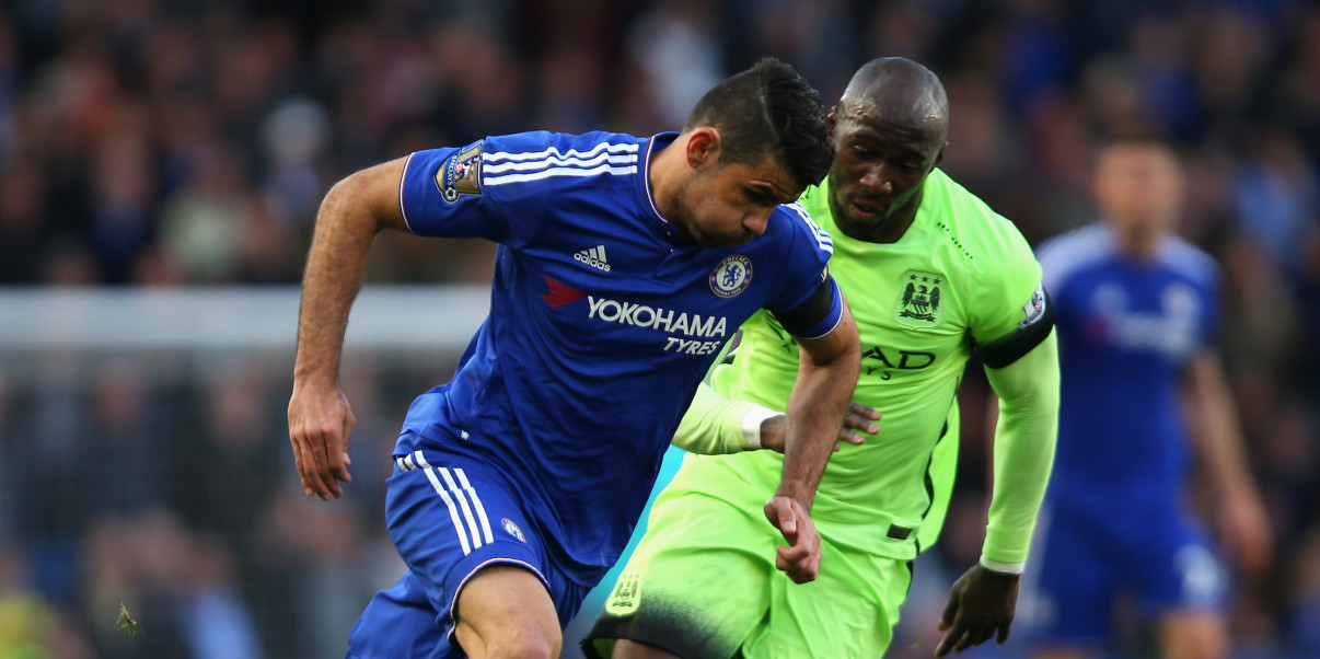 Eliaquim's emergence - Mangala had Diego Costa in his pocket, and not for the first time.