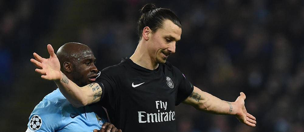 He's right behind you - Mangala kept Zlatan under wraps at the Etihad.
