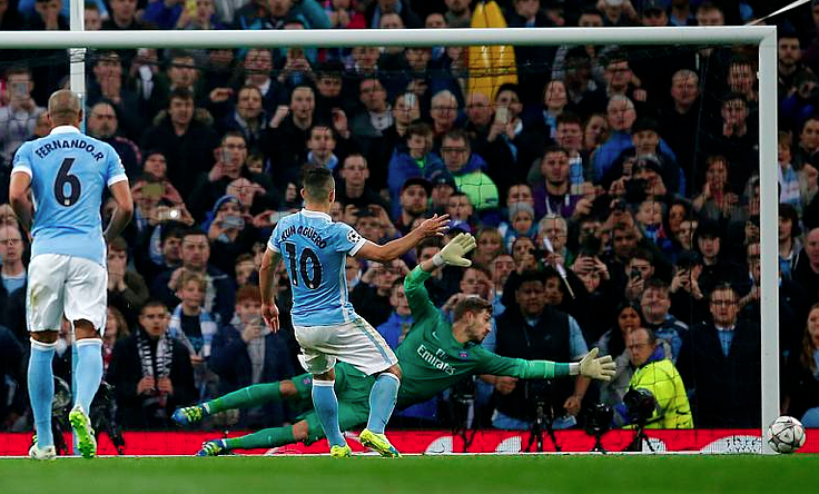 Oh No Sergio - Aguero missed a penalty against PSG, but BT Sport Football's joym was short-lived as City won 1-0.