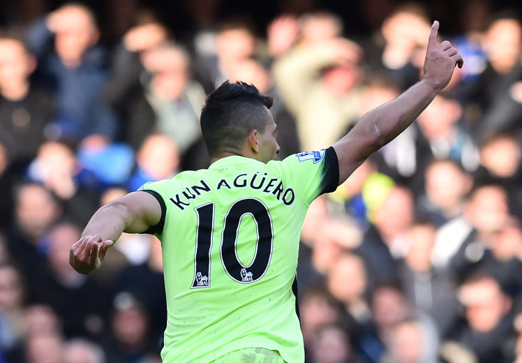 Super Sergio - Aguero bagged a hat-trick against Chelsea.