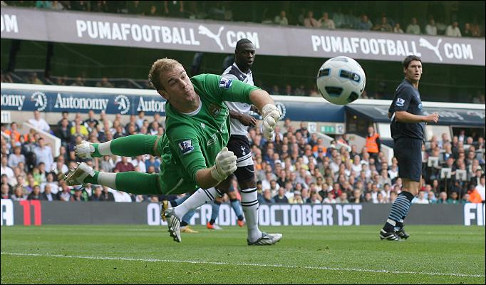 Hart's on Fire - Joe was too hot for Spurs when he took on the role as City's No 1 keeper from Shay Given.