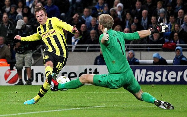 Joe versus the Germans - Hart was outstanding as Borussia Dortmund swarmed all over City in the Champions League.