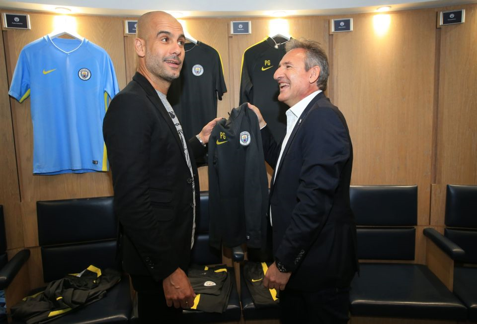 Txiki's greatest City signing - a certain Pep Guardiola.