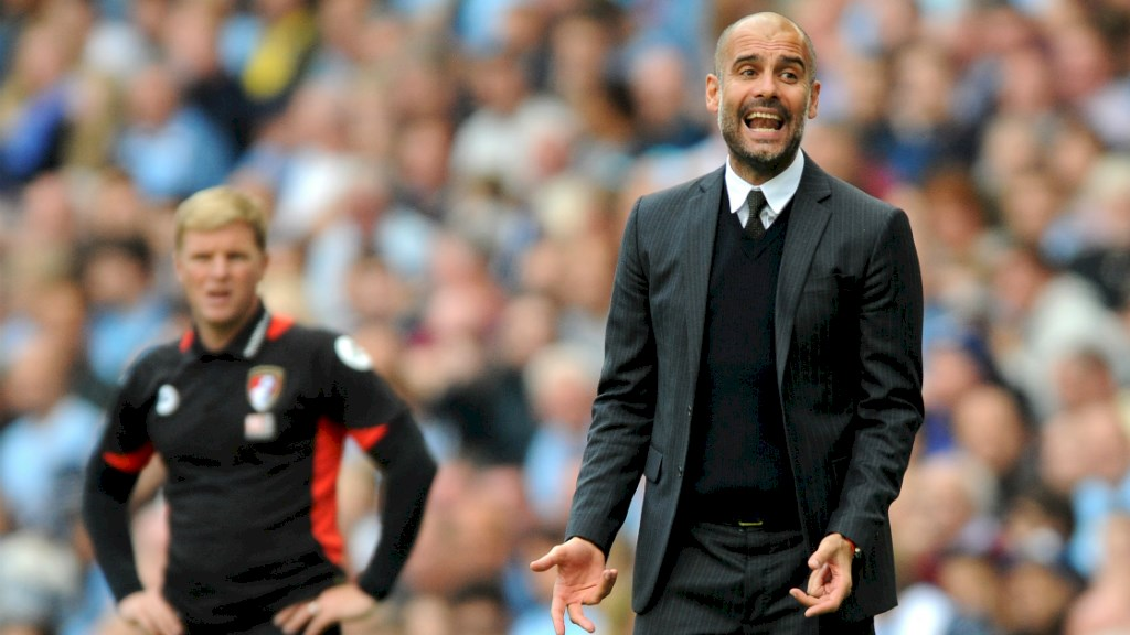Getting the message over - Pep knows the language of football better than anyone.