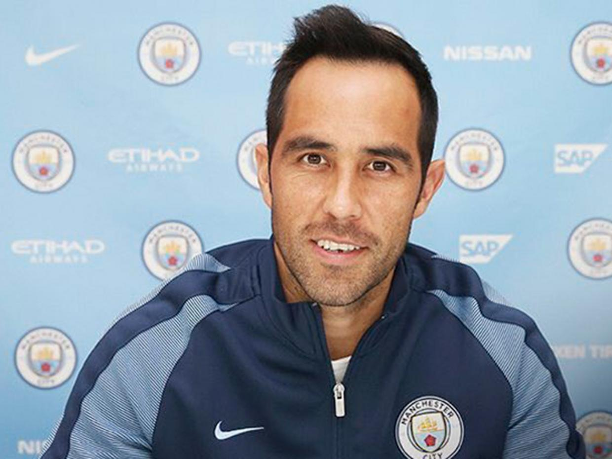 City's New Number One - Bravo will be hoping to make Zlatan & Co Foxtrot Oscar in today's derby.
