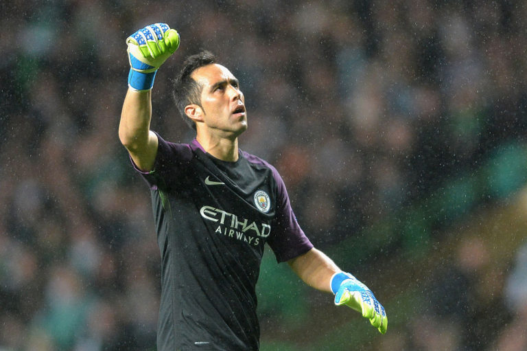 Beaten three times on the night, but Claudio Bravo wasn't to blame as City leaked goals in rain drenched Glasgow.