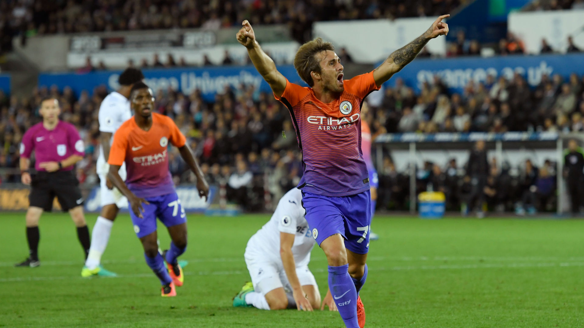 Up & Coming - Aleix Garcia opened his goal scoring account in City's 2-1 EFL win at Swansea.
