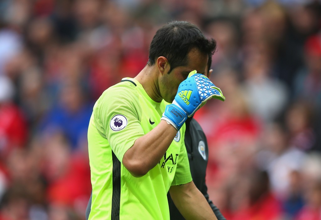 Jittery Bravo - City's new keeper made an unconvincing start in English football but Pep has every confidence in Claudio.