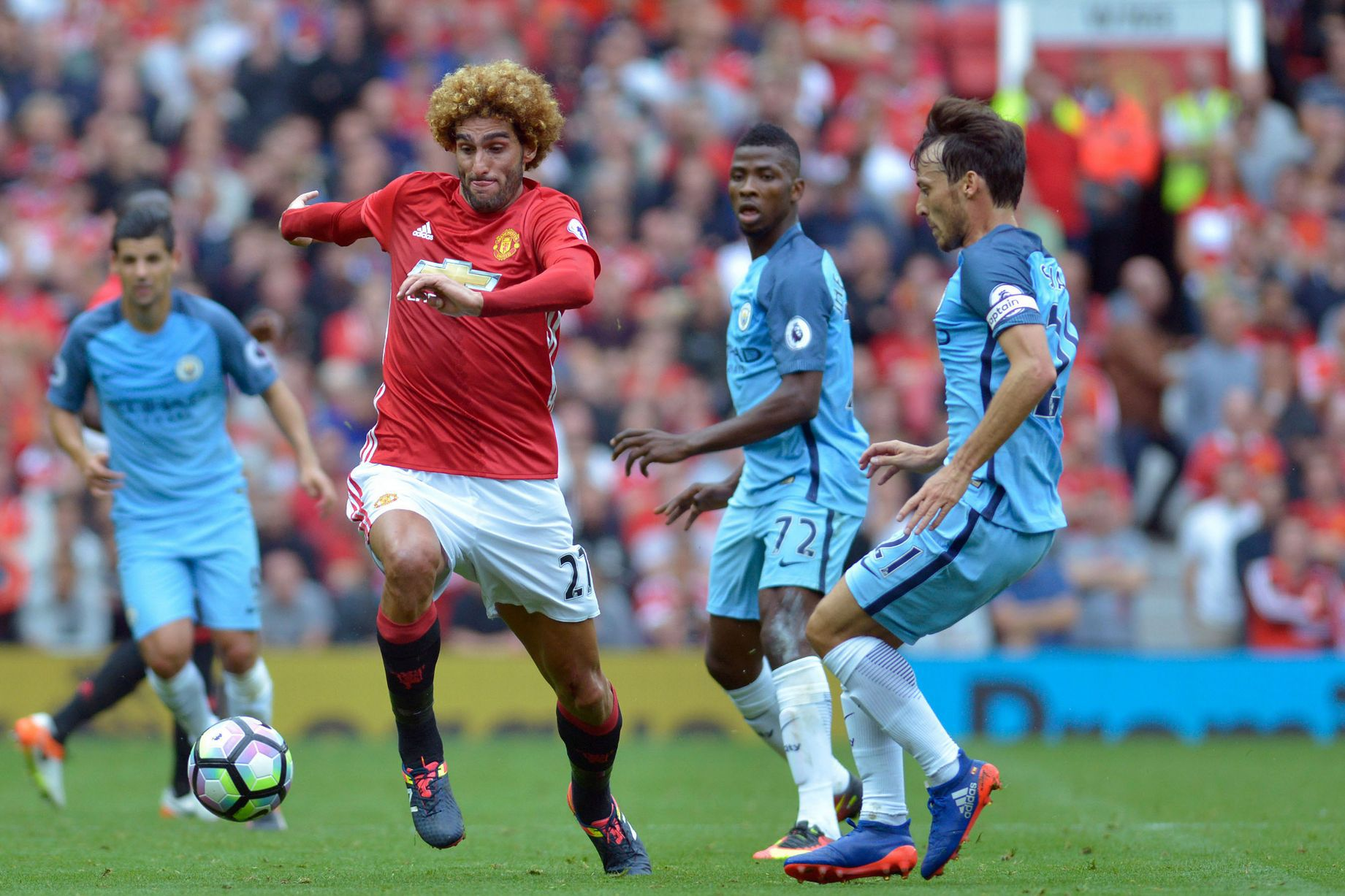 Fellaini the felon - the vile Belgian knocked out Kolarov's tooth and spat at Nolito and still had only the one yellow card to show for it.