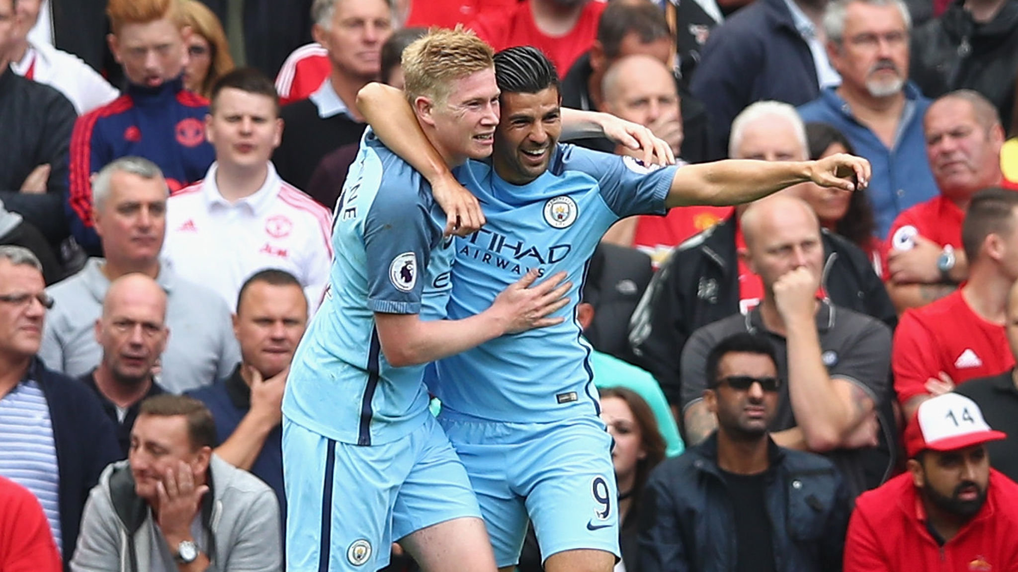 Kevin De Bruyne led City's orchestral manoeuvres on the Dark Side when he opened the scoring.