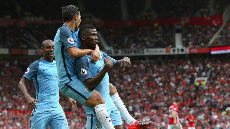 Kelechi grabbed what proved to be the winner as City sent shockwaves around Trafford and Salford way.