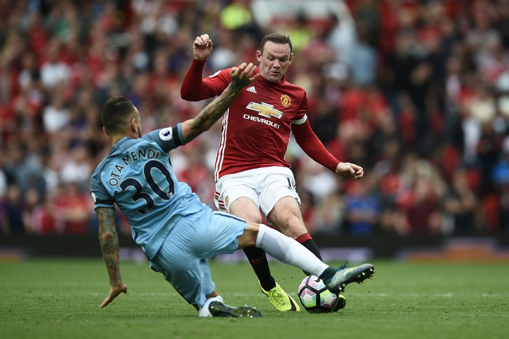 Warrior Otamendi had the measure of Rooney as the United skipper lost his rag!