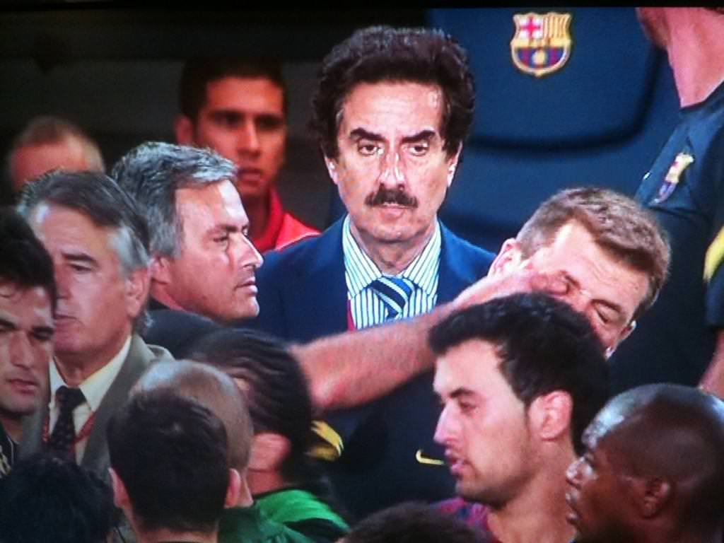 Not so special - Despicable Jose poked Tito Vilanova - Barcelona's Assistant Manager under Pep - in the eye after a stormy El Clasico encounter.