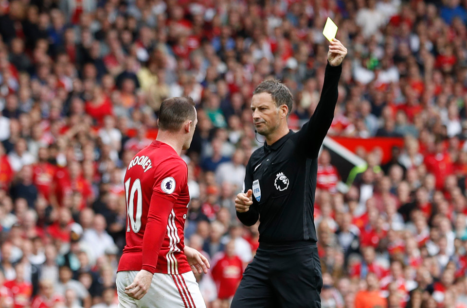 Clattenburg eventually succumbed to the inevitable booking for Rooney, but the United skipper should have been sent off for an accumulation of bookable offences.