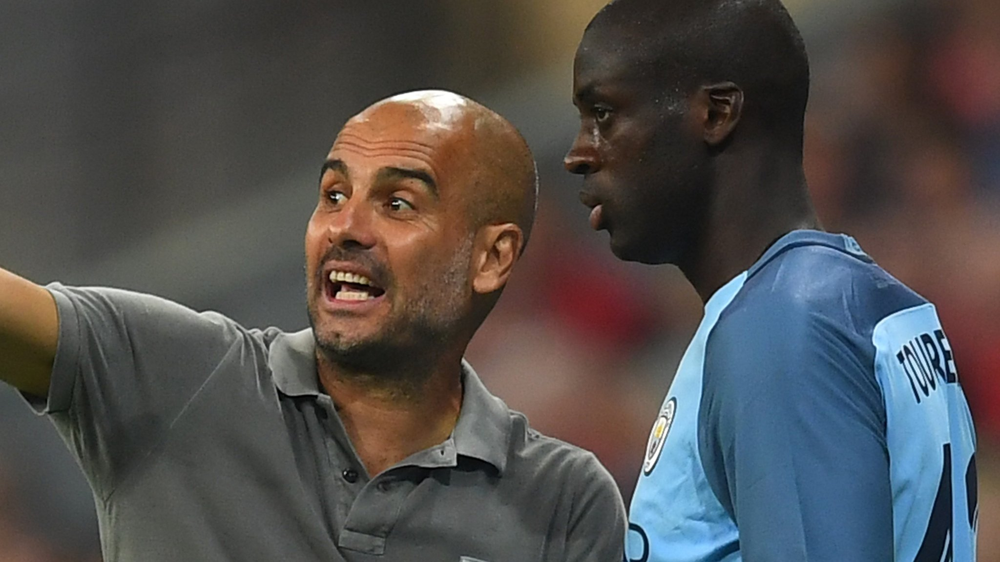 Calling the shots - Pep has hit back at Yaya Toure's agent Dimitri Seluk.
