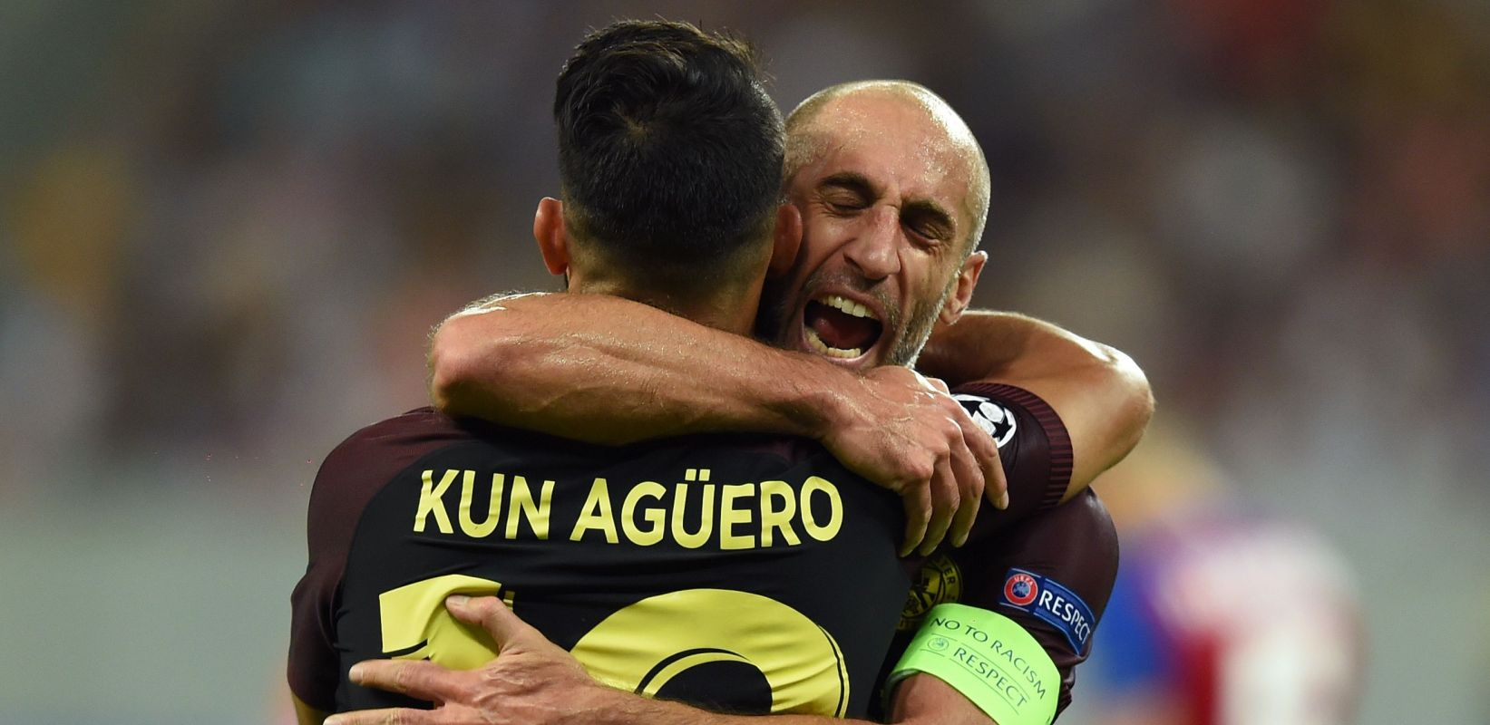 Legends Both - Zaba and Sergio are chasing a hat-trick of Premier League titles under Pep Guardiola's leadership.