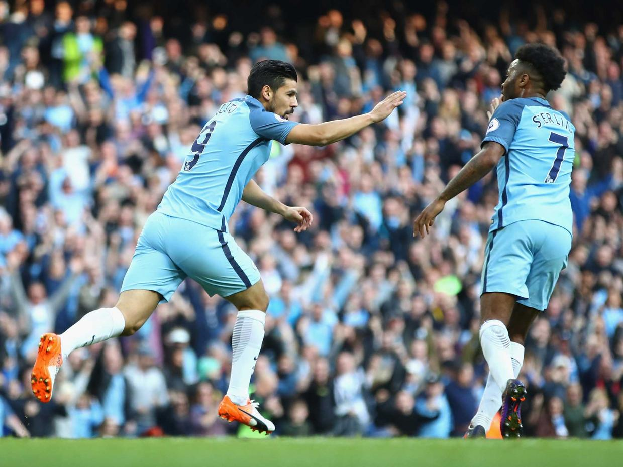 Knocking them in - Nolito has already scored six goals for City since his £13.8m move to the Etihad.