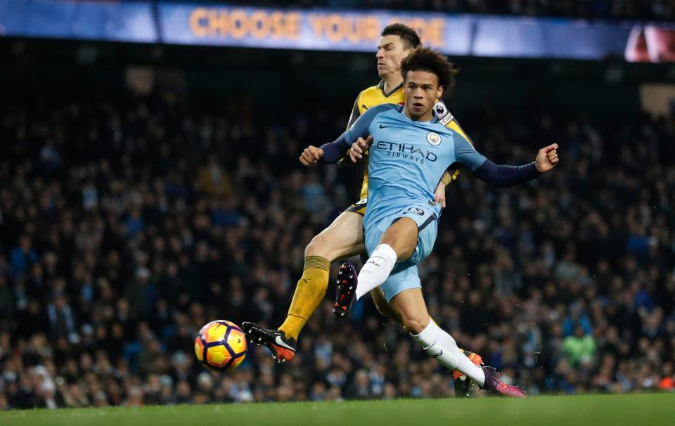 The Etihad went insane as Sane led the victory charge against Arsenal.