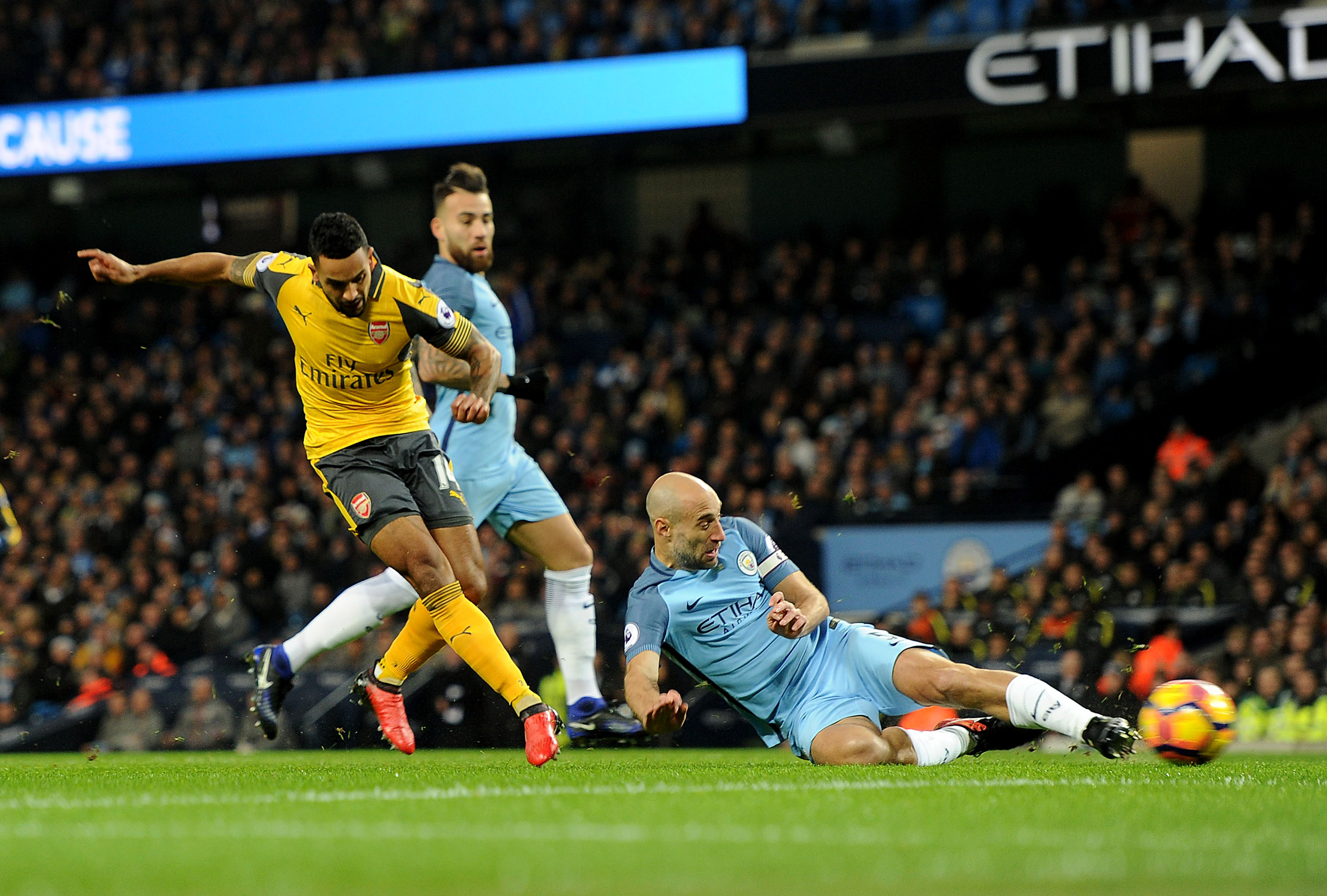 City supporters were fearing the worst when Arsenal went ahead after just four minutes.