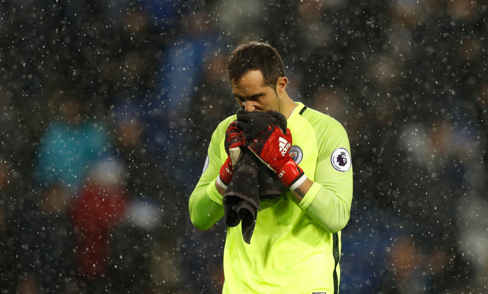 Bravo and out? City's Chilean goalkeeper has had an unhappy stay at the Etihad since his move from Barcelona in August.
