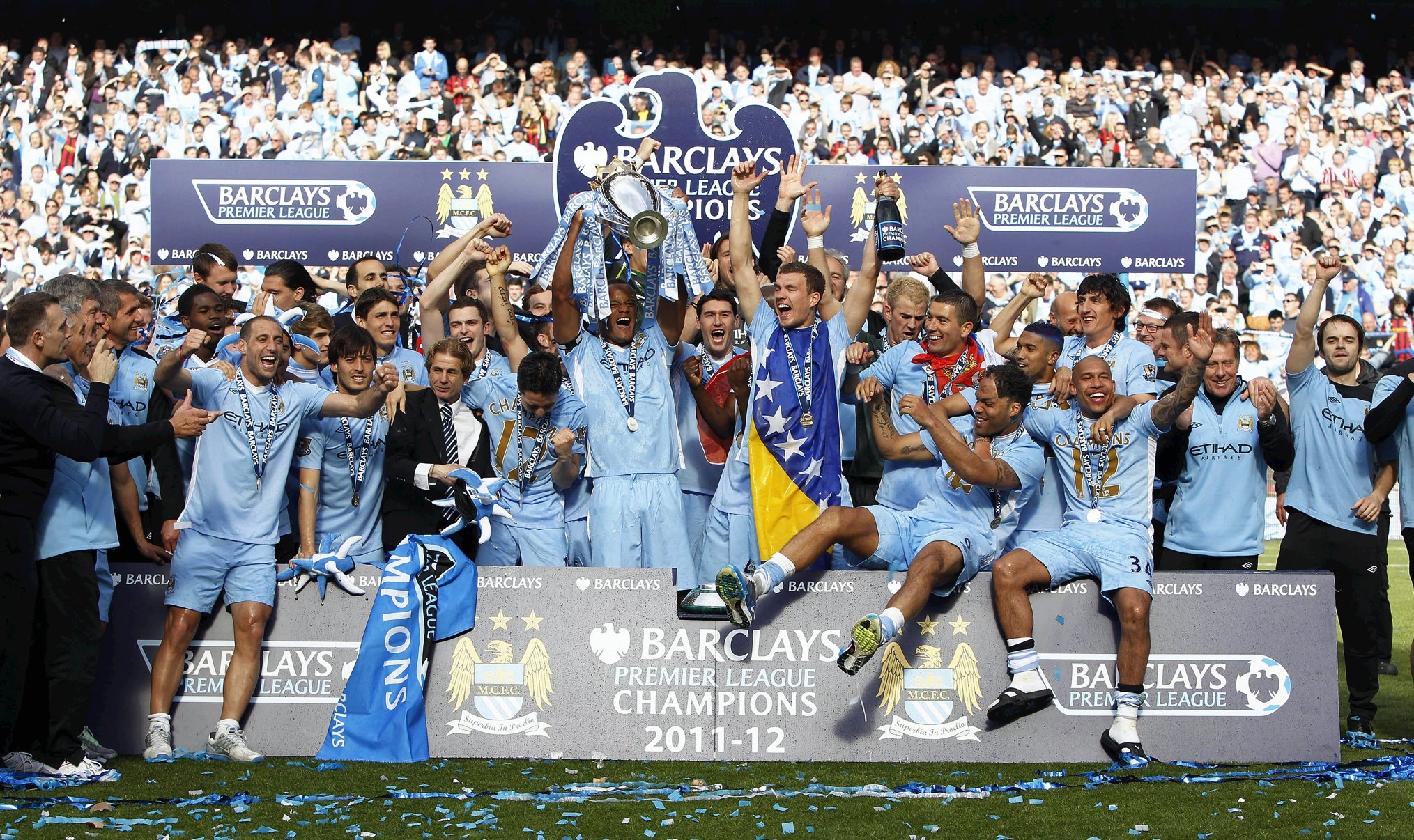 City were Champions Of England in 2012 - the first time in 44 years - despite some strange refereeing decisions that went against them and in favour of United in the 2011/12 season.