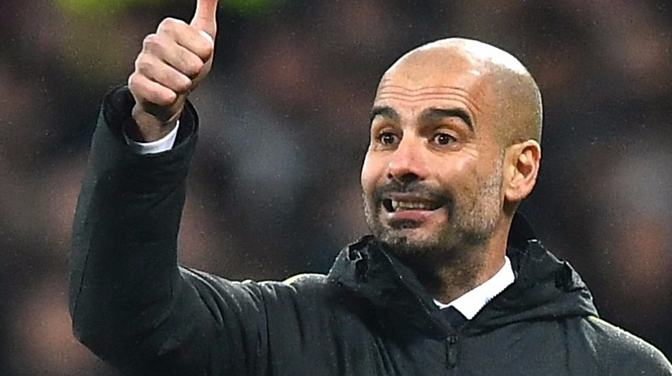 Thumbs Up to a High Five - Pep was smiling after City's 5-0 drubbing of West Ham in the FA Cup - hopefully he'll have plenty more to celebrate before the end of May.