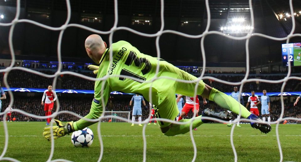 Willy does the business again - City's new No 1 goalkeeper saved Falcao's penalty.