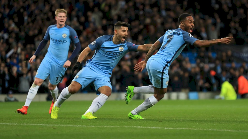 Sterling effort - Raheem has now contributed 5 goals and 5 assists in his last 9 Champions League games for City.