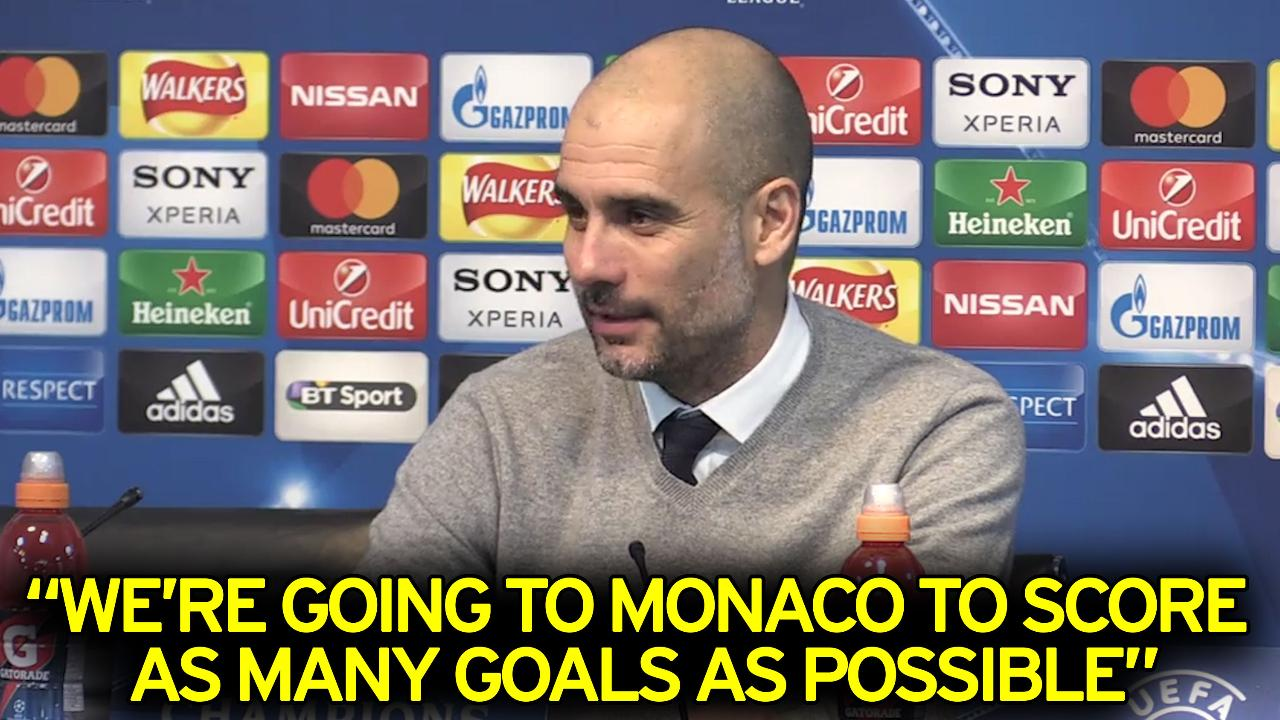 Mission Monaco - score as many goals as possible says Pep - Simples!