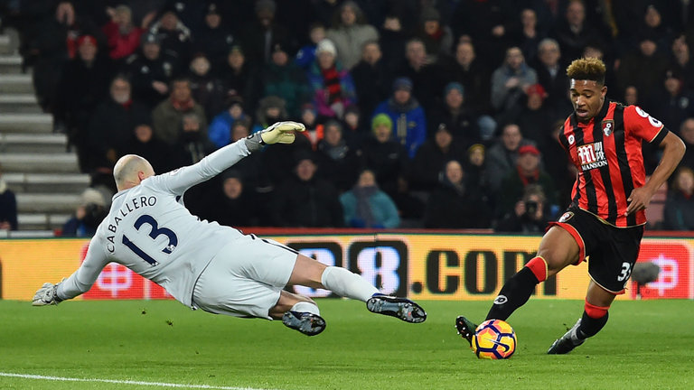 Willy to the rescue - Caballero pulls off a fine save at the Vitality Stadium.