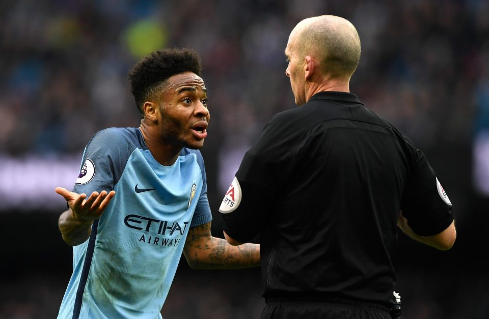 Persecuted - Referee Mike Dean books Raheem for God knows what against Swansea!