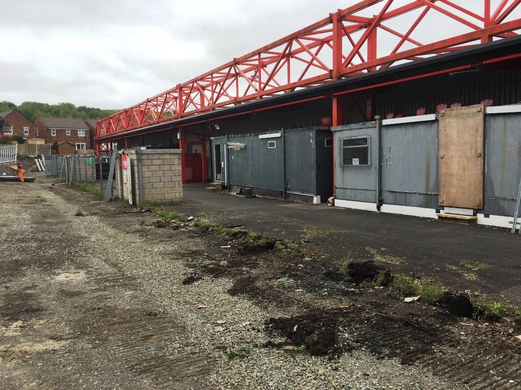 The 'before' picture prior to the creation of Accrington Stanley's Fan Zone, part funded with £25,000 raised by the fans.