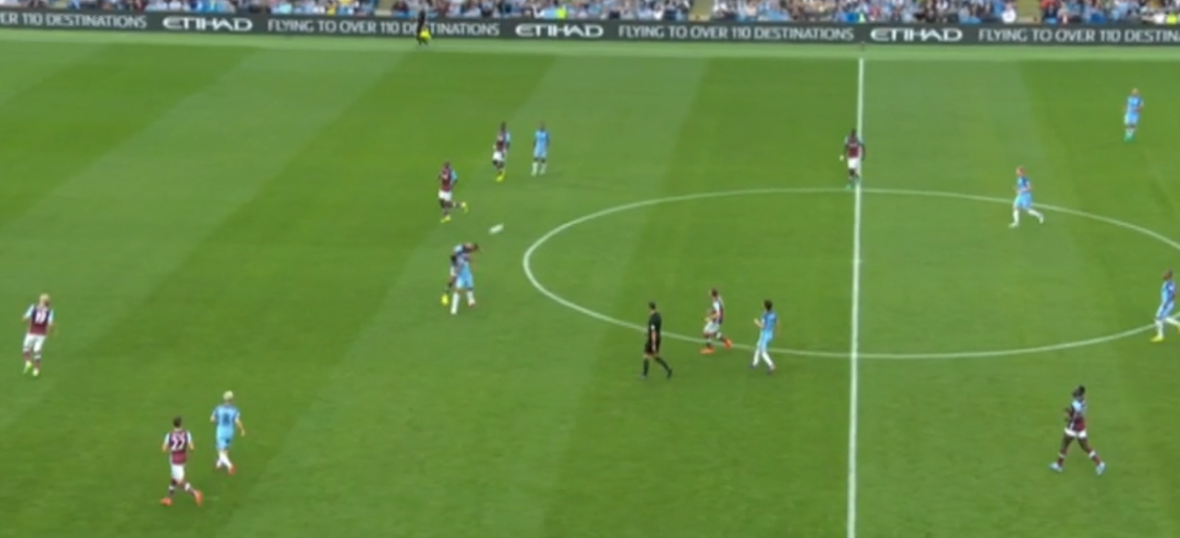 Blinding performance - apparently Andre Marriner didn't see the Aguero-Reid incident...right in front of him!