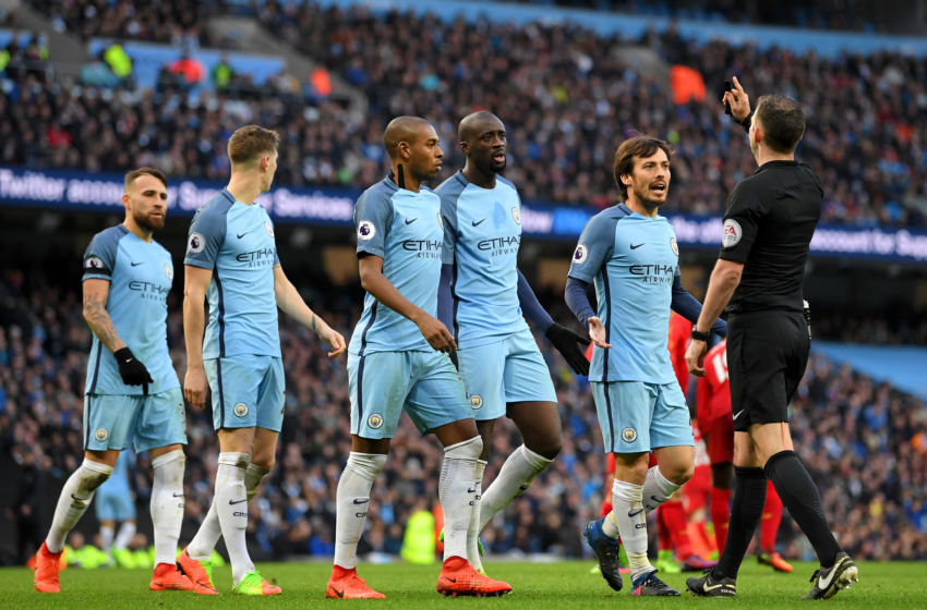 It's alleged referee Michael Oliver was 'mentally fatigued' as he made numerous mistakes in the City and Liverpool clash.