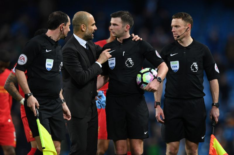 Pep Talk - Guardiola was, once again, left perplexed by sub-standard refereeing decisions, this time by Michael Oliver in the Liverpool game.