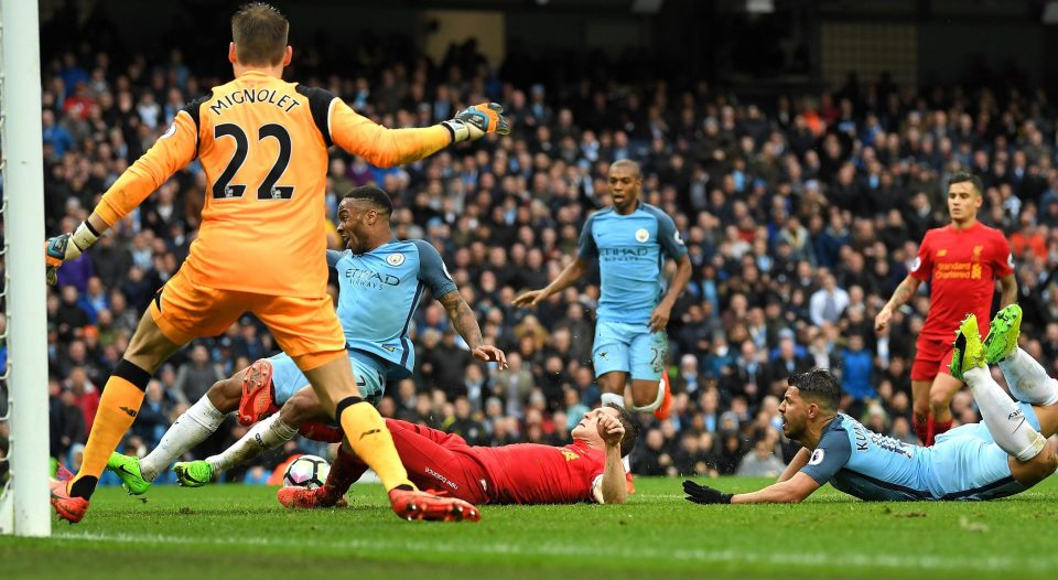 Sterling devalued - Raheem had a nailed on penalty not given when Milner fouled him in Liverpool's 6-yard box.