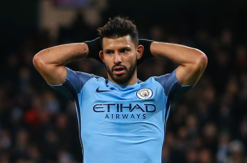 Challenging times - despite scoring 23 goals already this season, speculation persists over Sergio's City future.
