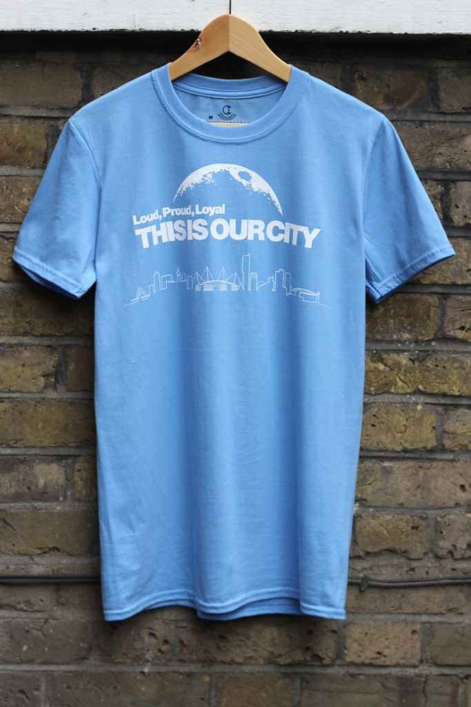 Competition winner Dave Birty will have his Loud, Proud, Loyal THIS IS OUR CITY - T-shirt in readiness for the Manchester Derby.