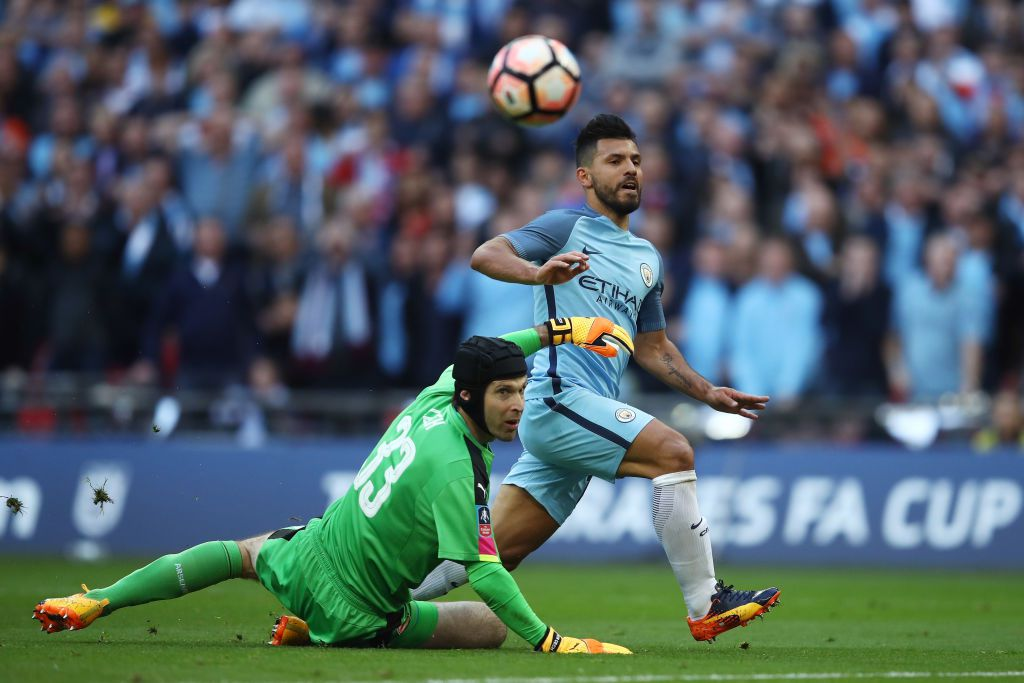 Sergio's 30th goal of the season wasn't enough to see City through to the FA Cup Final.