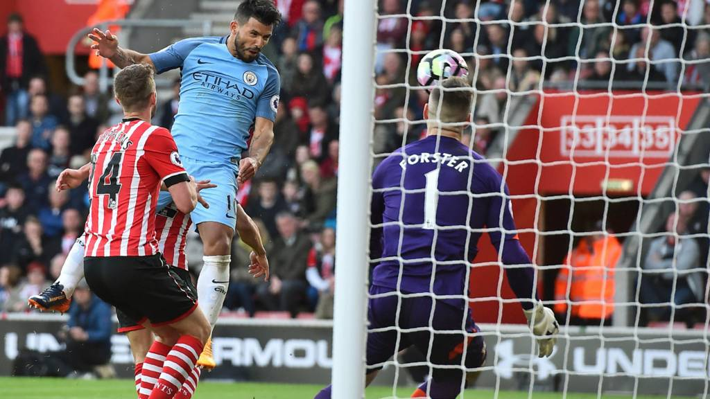 Goal number 29 of 2016/17 for Aguero, away at Southampton on Saturday evening.