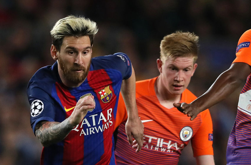 Opponents or team mates? Is it conceivable that Lionel Messi and Kevin De Bruyne could both be in City colours in 2017/18?