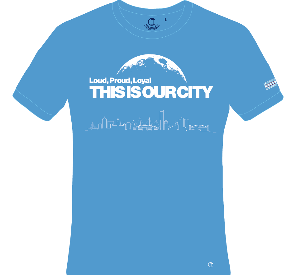 Pride in Battle - you could be wearing this at the Etihad Stadium next Thursday night - either by winning our competition or buying this great City T-shirt.